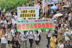 Hong Kong marschiert am 1. Juli 2012 Lizenzfreies Stockbild