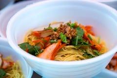 Hong Kong mat, wontonnudel Fotografering för Bildbyråer
