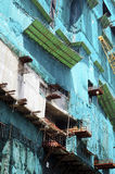 Hong Kong material till byggnadsställning Arkivbild