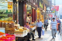 Hong Kong matmarknad Arkivbilder