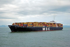 Hong Kong, May, 20, 2010 - Container vessel Stock Image