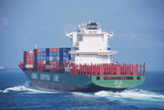 Hong Kong, May, 21, 2010 - Container vessel enteri Stock Photo