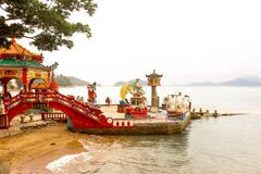Overview Landscape of Tin Hau Temple Repulse Bay in Hong Kong. Hong Kong - May 20, 2017, Editorail use only; Overview Landscape of Tin Hau Temple Repulse Bay in royalty free stock images
