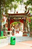 Tin Hau Temple Repulse Bay in Hong Kong. Hong Kong - May 20, 2017, Editorail use only; Tin Hau Temple Repulse Bay in Hong Kong Royalty Free Stock Image