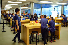 Apple store. HONG KONG - MAY 5, 2015:  interior of Apple store. Apple Inc. is an American multinational technology company headquartered in Cupertino, California Stock Images