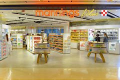 IFC Mall. HONG KONG - MAY 5, 2015: interior of Mannings store. Mannings is a chain of personal health and beauty retailer offering comprehensive range of Stock Images