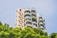 Hong Kong - May, 25, 2017 Toned image of modern office buildings in central Hong Kong Royalty Free Stock Photo