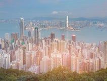 Hong Kong-menigtewoonplaats en centrale economische sector Royalty-vrije Stock Foto