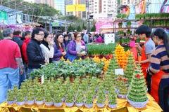 Hong Kong: Mercado chino 2016 del Año Nuevo imagenes de archivo