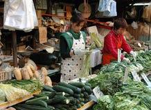 Hong Kong: Mercado de rua da recuperação Foto de Stock Royalty Free