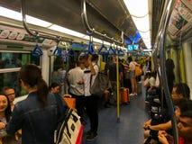 Hong Kong metro lub MTR pociąg zdjęcie royalty free