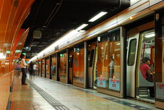 Hong Kong metro station Royalty Free Stock Images
