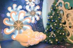 Hong Kong Metroplaza-Kerstmisdecoratie Royalty-vrije Stock Foto