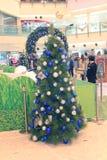 Hong Kong Metroplaza-Kerstmisdecoratie Stock Foto