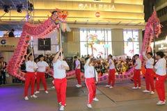 Hong Kong: Międzynarodowa Chińska nowy rok nocy parada 2015 Zdjęcie Royalty Free
