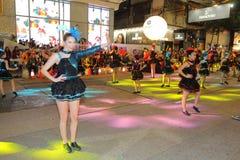 Hong Kong: Międzynarodowa Chińska nowy rok nocy parada 2015 Fotografia Royalty Free