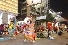 Hong Kong: Międzynarodowa Chińska nowy rok nocy parada 2015 Obrazy Stock