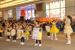 Hong Kong: Międzynarodowa Chińska nowy rok nocy parada 2016 Zdjęcie Stock