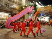 Hong Kong: Międzynarodowa Chińska nowy rok nocy parada 2016 Zdjęcie Royalty Free