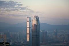 Hong Kong miasta widok od Wiktoria szczytu Obraz Stock