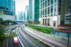 Hong Kong miasto ruch drogowy obraz royalty free