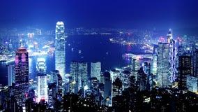 Hong Kong.  Miasto Timelapse. zbiory wideo