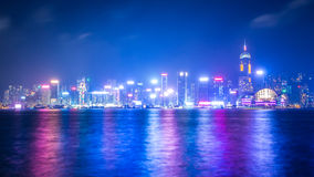 Hong Kong miasto W mgle Fotografia Royalty Free