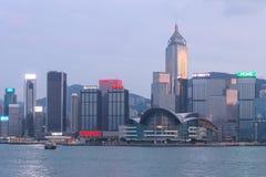 Hong Kong miasto, widok od Wiktoria schronienia Zdjęcie Royalty Free
