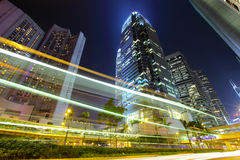 Hong Kong miasto z ruchem drogowym Obraz Royalty Free