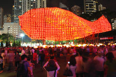 Hong Kong : Mid-Autumn Festival 2011. Hong Kongs signature glow might be neon but during the Mid-Autumn Festival lanterns reprise their age-old role as the citys royalty free stock photos