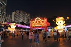 Hong Kong Mid-Autumn Festival 2013 stockfotografie