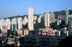 Hong Kong Mid Levels royaltyfria foton