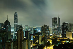 Hong Kong mid night Stock Photos