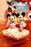 Hong Kong: Minnie och Mickey Mouse leksaker arkivfoto
