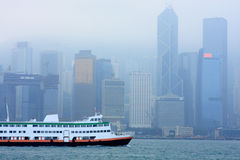 Hong kong in mist Royalty Free Stock Photography