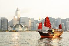 Hong Kong mit touristischem Trödel lizenzfreie stockfotos