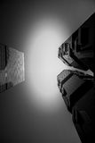Hong Kong modern architecture Black and White Royalty Free Stock Photos