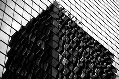 Hong Kong modern architecture Black and White Royalty Free Stock Photography