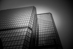 Hong Kong modern architecture Black and White Royalty Free Stock Image