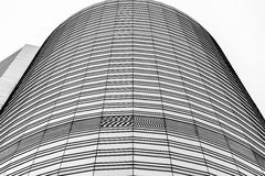 Hong Kong modern architecture Black and White Royalty Free Stock Photo