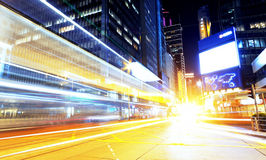 Hong kong modern city High speed traffic Royalty Free Stock Photo