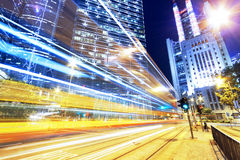 Hong kong modern city High speed traffic Royalty Free Stock Photography