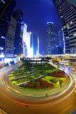 Hong kong modern city High speed traffic Stock Images