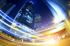 Hong kong modern city High speed traffic Stock Photography