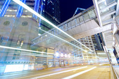 Hong kong modern city High speed traffic Royalty Free Stock Image