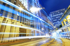 Hong kong modern city High speed traffic Royalty Free Stock Images