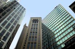 Hong Kong moderna skyskrapor Arkivfoton