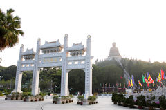 Hong Kong: Monastério do Po Lin Fotos de Stock Royalty Free