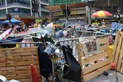 Hong Kong, Mongkok, revolución del paraguas Imágenes de archivo libres de regalías