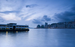 Hong kong morning. It is a morning shoot in hong kong star ferry habour Stock Images
